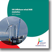 UK Offshore wind HSE statistics 2015 report cover