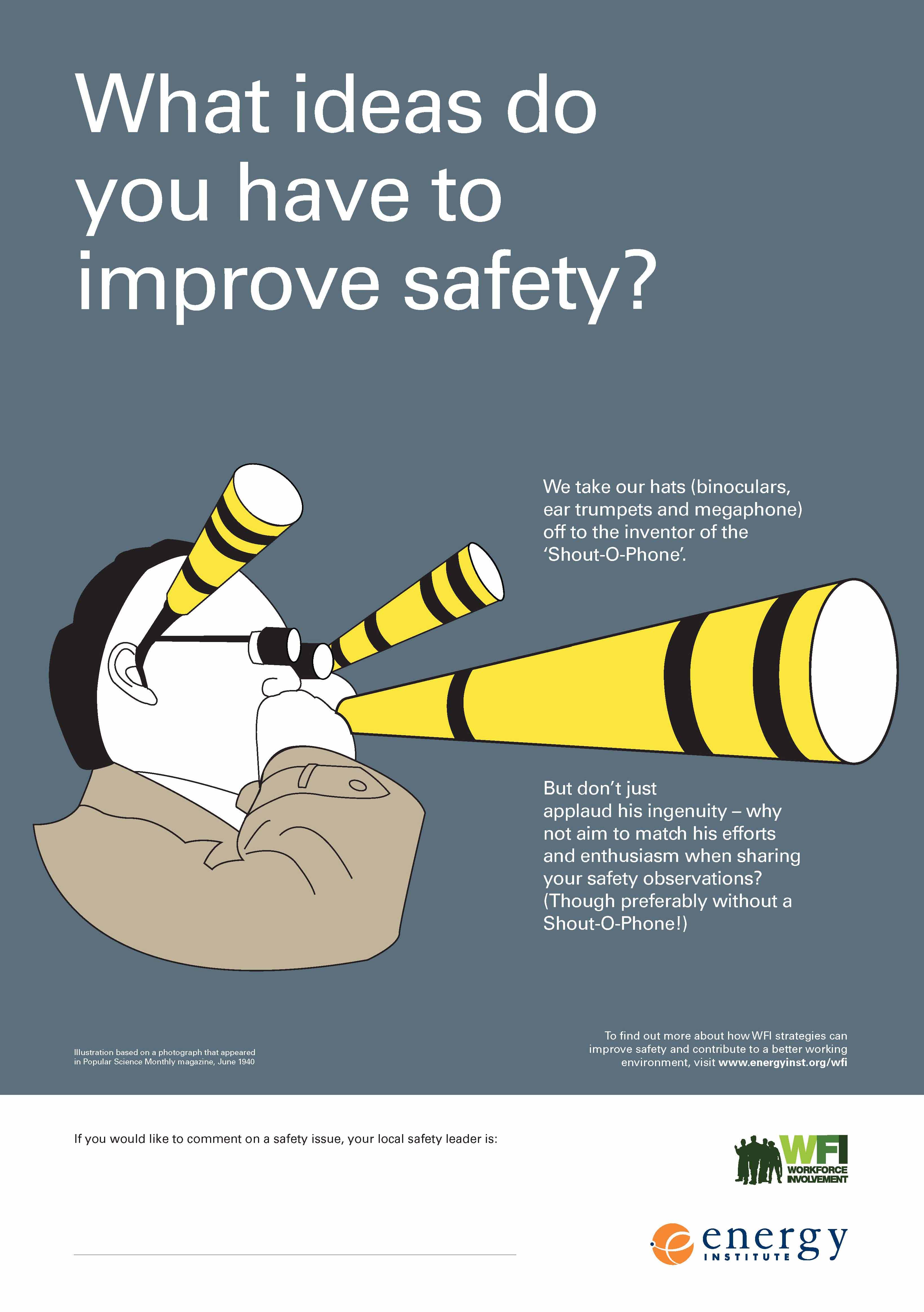 workforce involvement poster 7: what ideas do you have to improve